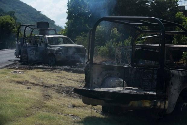 Mexico: Bi phuc kich ben duong, it nhat 14 canh sat thiet mang hinh anh 1