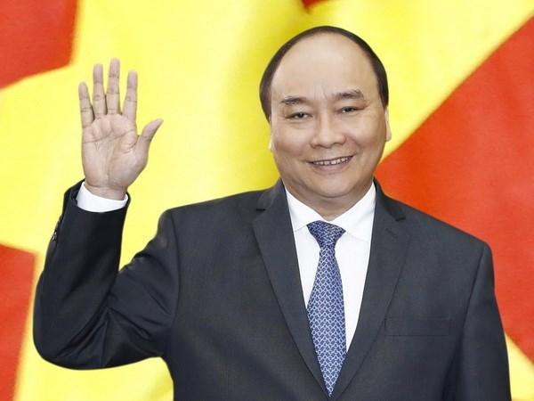 Thu tuong Nguyen Xuan Phuc len duong du le dang quang Nha Vua Nhat Ban hinh anh 1