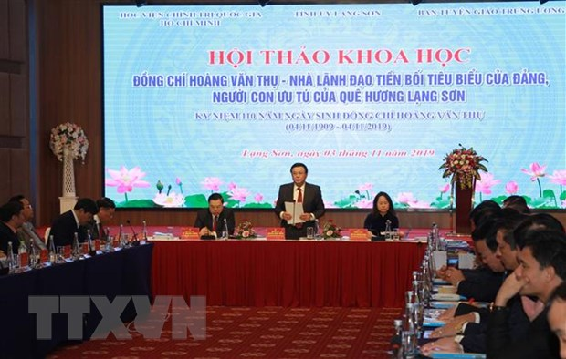 Dong chi Hoang Van Thu - Nha lanh dao tien boi tieu bieu cua Dang hinh anh 1
