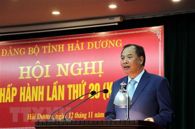 Ong Pham Xuan Thang lam Pho Bi thu Thuong truc Tinh uy Hai Duong hinh anh 2