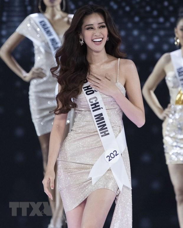 Nguyen Tran Khanh Van dang quang Hoa hau Hoan vu Viet Nam 2019 hinh anh 1