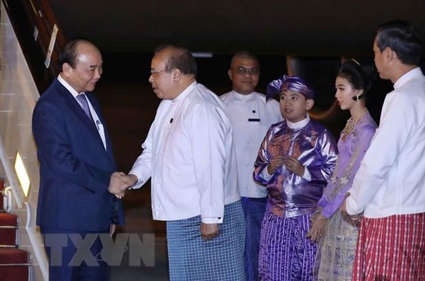 Thu tuong Nguyen Xuan Phuc bat dau tham chinh thuc Myanmar hinh anh 1