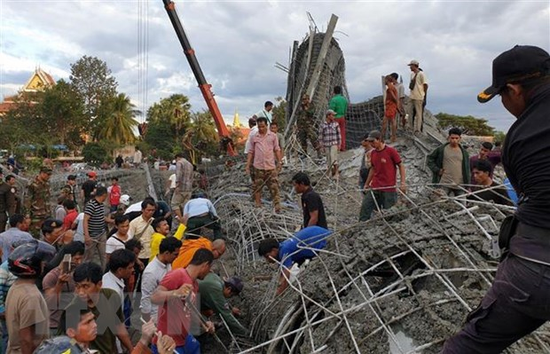 Campuchia: Sap cong trinh dang thi cong, hang chuc nguoi bi vui lap hinh anh 1