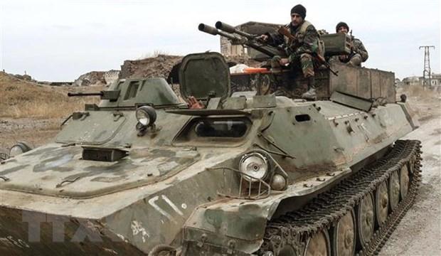 Phe noi day tan cong cu diem quan doi Syria o Idlib hinh anh 1