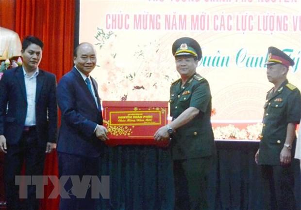 Thu tuong Nguyen Xuan Phuc chuc Tet cac don vi tai Da Nang hinh anh 1