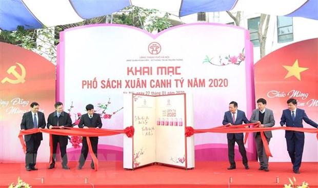 Ha Noi: Tung bung khai mac Pho sach Xuan Canh Ty 2020 hinh anh 1