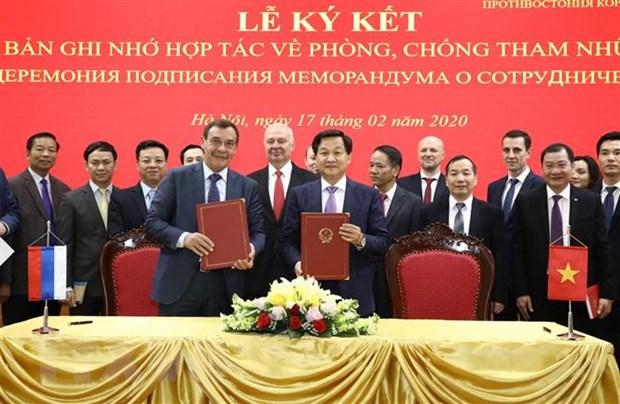 Nang cap hop tac phong chong tham nhung giua Viet Nam-Lien bang Nga hinh anh 1