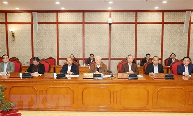 Tổng Bí thư, Chủ tịch nước Nguyễn Phú Trọng phát biểu kết luận cuộc họp. Ảnh: Trí Dũng/TTXVN