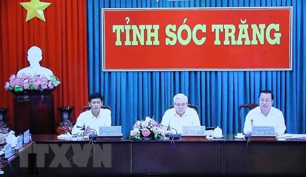 Thu tuong Nguyen Xuan Phuc lam viec truc tuyen voi tinh Soc Trang hinh anh 2
