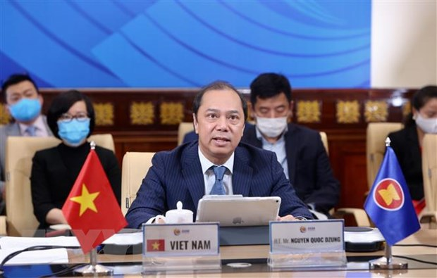 ASEAN-My thuc day hop tac trong ung pho voi dich COVID-19 hinh anh 1