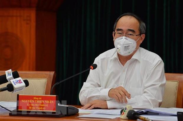 Khai mac Hoi nghi lan thu 40 Ban Chap hanh Dang bo TP.HCM khoa X hinh anh 1