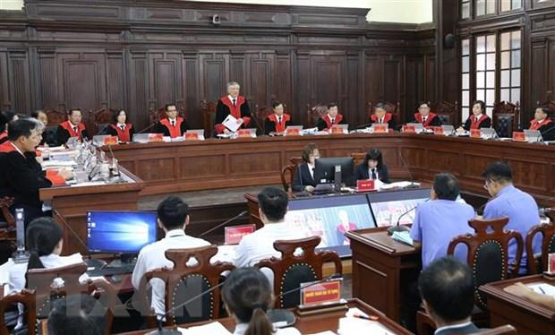 Chánh án Tòa án nhân dân Tối cao Nguyễn Hòa Bình, Chủ tọa phiên tòa phát biểu khai mạc phiên xét xử. Ảnh: Doãn Tấn/TTXVN