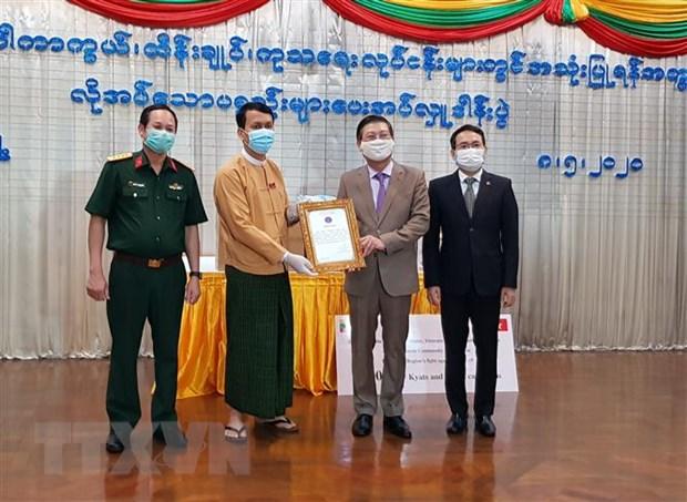 Cong dong nguoi Viet tai Myanmar ung ho Vung Yangon chong COVID-19 hinh anh 1