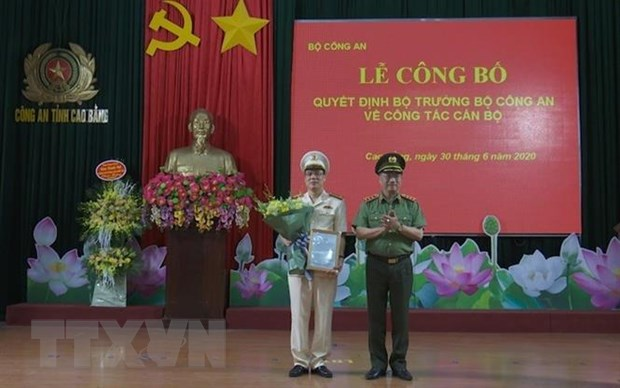 Dai ta Vu Hong Quang duoc bo nhiem lam Giam doc Cong an tinh Cao Bang hinh anh 1