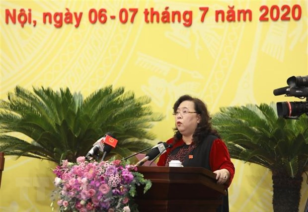 Khai mac Ky hop thu 15 Hoi dong Nhan dan thanh pho Ha Noi hinh anh 3