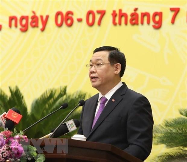 Khai mac Ky hop thu 15 Hoi dong Nhan dan thanh pho Ha Noi hinh anh 4