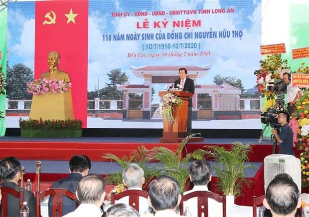 Le ky niem 110 nam ngay sinh Luat su Nguyen Huu Tho hinh anh 1