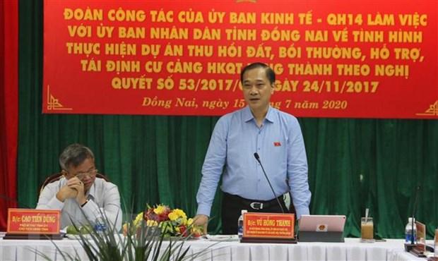 Dong Nai can dam bao tien do thu hoi dat san bay Long Thanh hinh anh 1