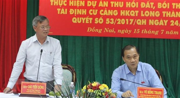 Dong Nai can dam bao tien do thu hoi dat san bay Long Thanh hinh anh 2