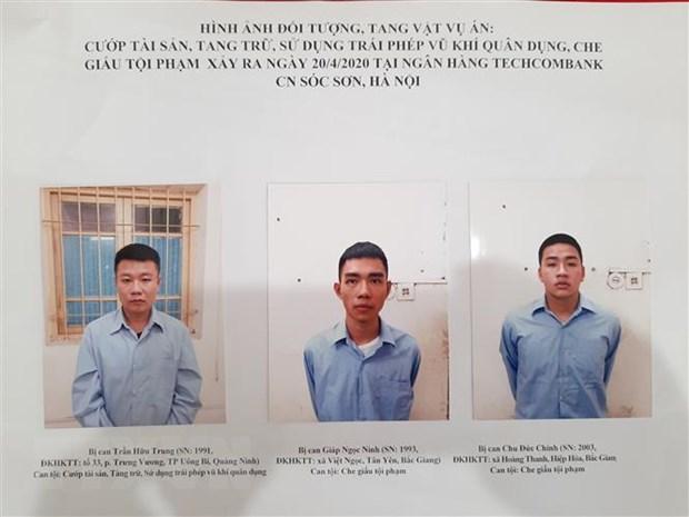 Ha Noi: Truy to doi tuong cuop Ngan hang Techcombank chi nhanh Soc Son hinh anh 1