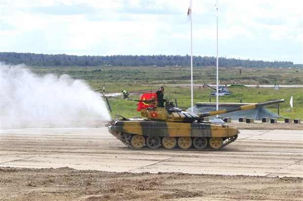 Doi tuyen xe tang Viet Nam vao thi dau ban ket Army Games 2020 hinh anh 1