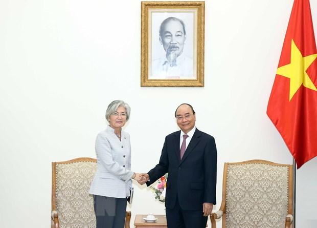 Thu tuong Nguyen Xuan Phuc tiep Bo truong Ngoai giao Han Quoc hinh anh 1