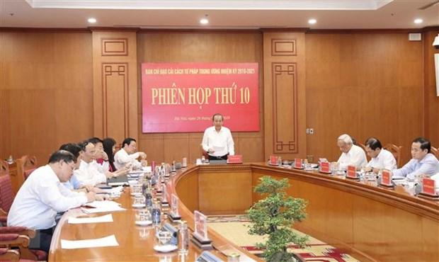 Phien hop thu 10 Ban Chi dao Cai cach tu phap Trung uong hinh anh 1