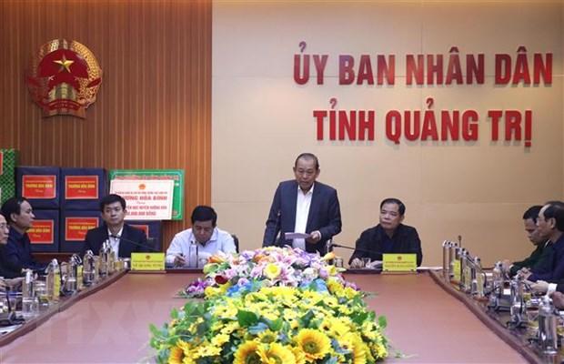 PTT Truong Hoa Binh chi dao khac phuc hau qua lu lut o Quang Tri hinh anh 2
