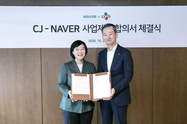 Naver va CJ Group ky thoa thuan hoan doi co phan tri gia 531 trieu USD hinh anh 1