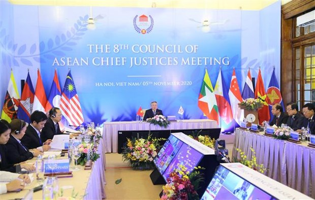 Khai mac Hoi nghi Hoi dong Chanh an cac nuoc ASEAN lan thu 8 hinh anh 1