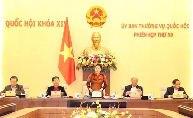 Uy ban Thuong vu Quoc hoi tien hanh hop Phien hop thu 50 hinh anh 1