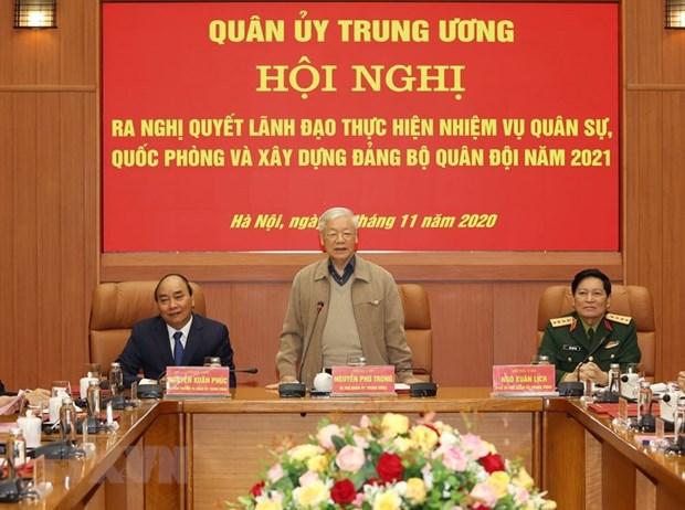 Quan uy Trung uong thong qua phuong huong nhiem vu nam 2021 hinh anh 1