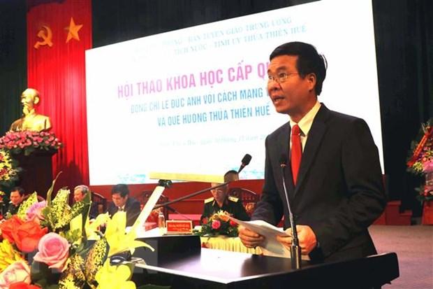 Dai tuong Le Duc Anh voi cach mang Viet Nam va que huong TT-Hue hinh anh 2