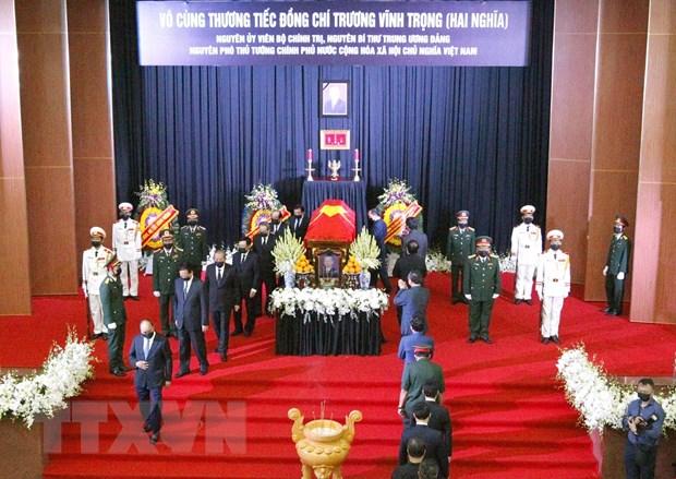 To chuc trong the Le vieng nguyen Pho Thu tuong Truong Vinh Trong hinh anh 1