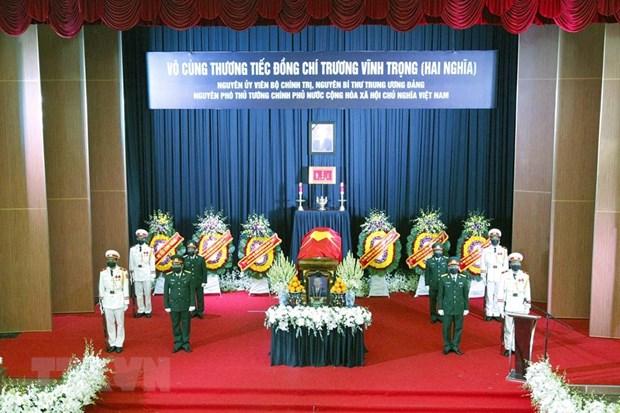 Loi cam on cua Ban Le tang va gia dinh nguyen PTT Truong Vinh Trong hinh anh 1
