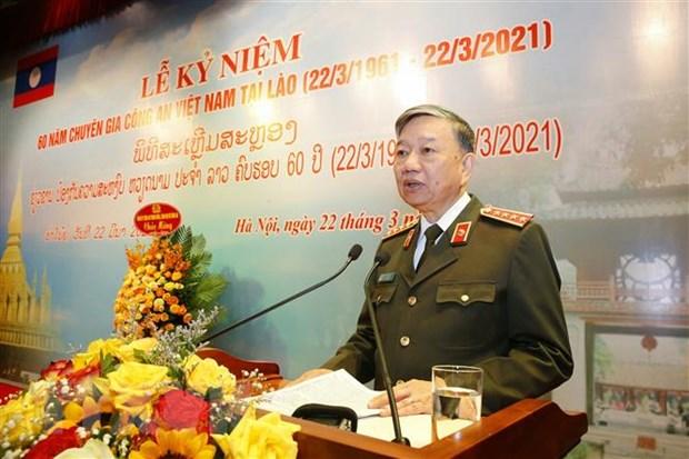Ky niem 60 nam truyen thong Chuyen gia Cong an Viet Nam tai Lao hinh anh 1