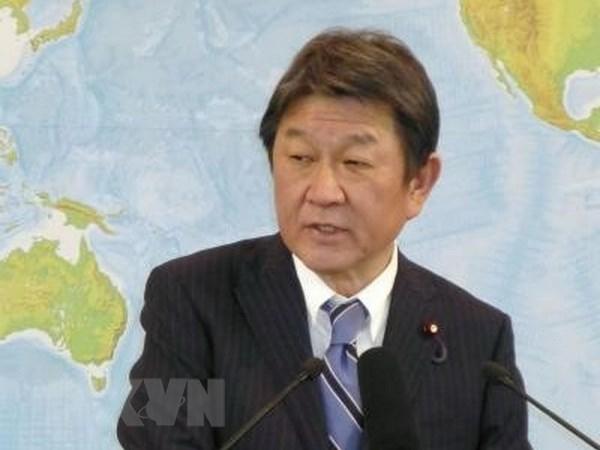 Ngoại trưởng Nhật Bản Motegi Toshimitsu. Ảnh: Kyodo/TTXVN