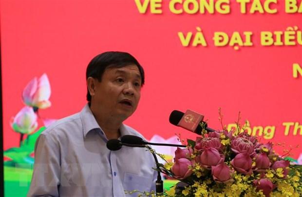 Doan giam sat cua Hoi dong Bau cu Quoc gia lam viec tai Dong Thap hinh anh 2