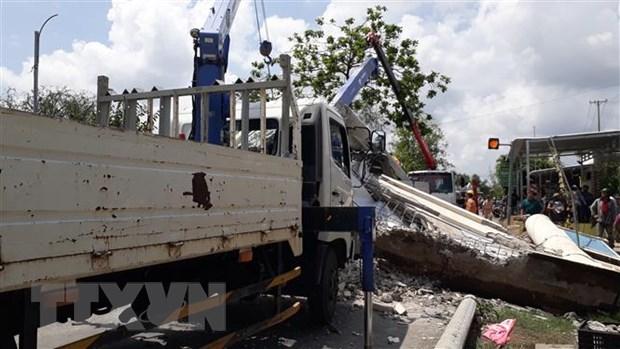 Hiện trường một vụ tai nạn tại Bạc Liêu. Ảnh: Chanh Đa/TTXVN