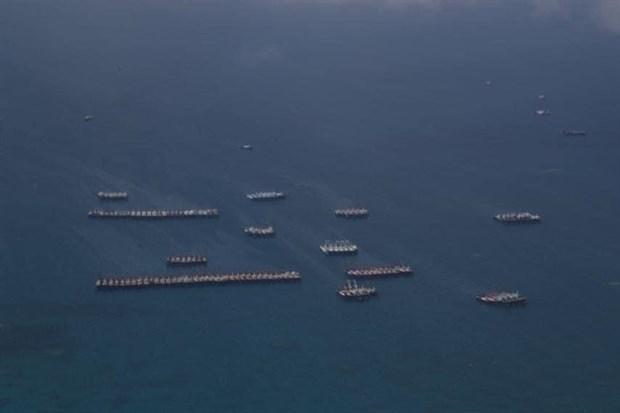 Tàu Trung Quốc ở Biển Đông. Nguồn: AFP/TTXVN