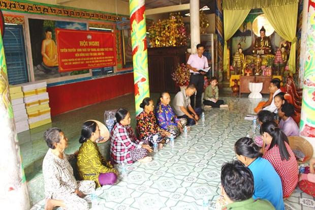 Hau Giang tang cuong tuyen truyen ve bau cu den dong bao Khmer hinh anh 1