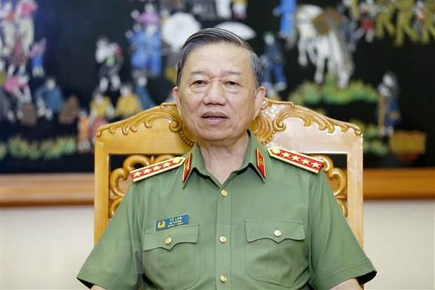 Dai tuong To Lam: Bao dam tuyet doi an ninh, an toan cuoc bau cu hinh anh 1