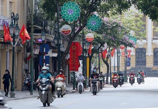 Bau cu Quoc hoi va Hoi dong Nhan dan: Ha Noi han hoan don ngay hoi lon hinh anh 2