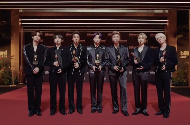 BTS thang tuyet doi tai le trao giai thuong am nhac Billboard 2021 hinh anh 1