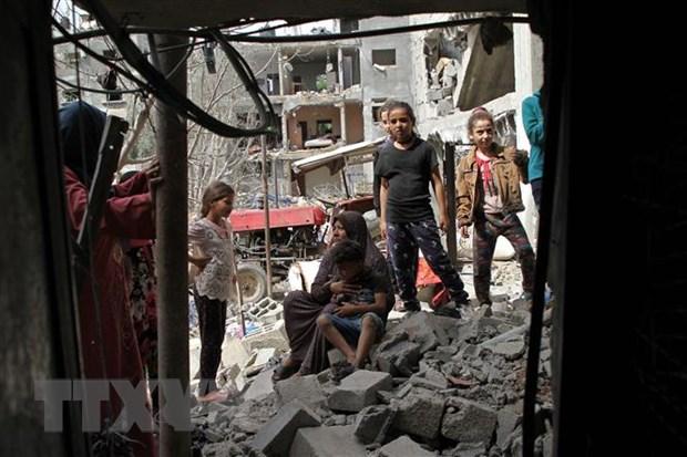 Xung dot Israel-Palestine: Quoc te no luc cung co lenh ngung ban hinh anh 1