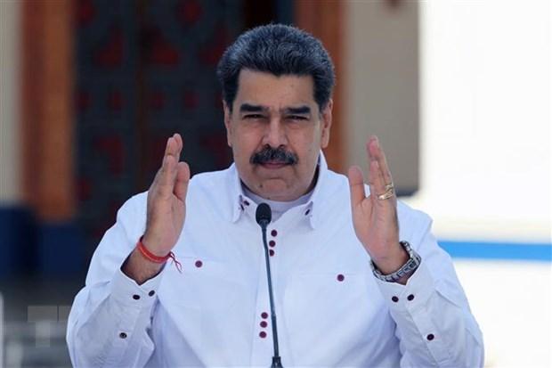Tong thong Venezuela bay to thien chi doi thoai voi phe doi lap hinh anh 1