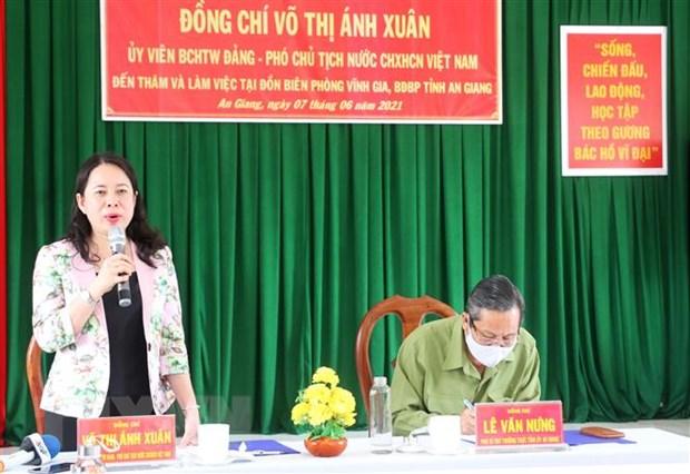 Pho Chu tich nuoc tham luc luong phong chong dich bien gioi An Giang hinh anh 3