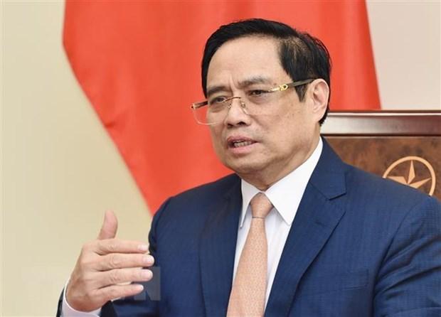 Thu tuong Pham Minh Chinh dien dam voi Thu tuong Han Quoc Kim Boo Kyum hinh anh 1