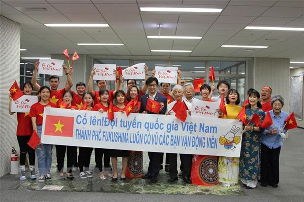 Thi truong va nguoi dan Fukushima 'tiep lua' doan the thao Viet Nam hinh anh 1