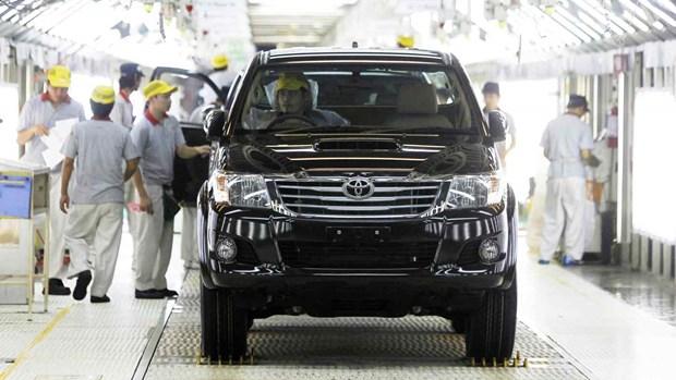 Toyota ngung hoat dong ca ba nha may o Thai Lan do thieu phu tung hinh anh 1